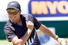 Val Smith had to settle for a singles bronze medal. Photo / NZPA