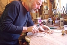 Paddy Burgin says instrument making is a lonely job which needs balance. Photo / Madeleine Leydon.