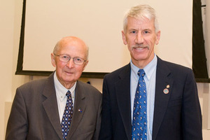 Hon. Rob Talbot (left) and Dr Robert Bindschadler.
