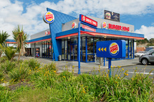 This purpose-built Burger King at 112 Apollo Drive in Albany sold at auction for $2.53 million, as demand grows for good-quality food retailers. Photo / Supplied