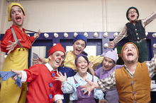 The series follows seven dwarfs working on a well-known pantomime. Photo / TVNZ