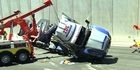 Truck crash chokes traffic flow