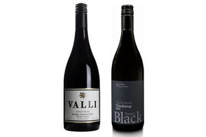 2010 Valli Bendigo Vineyard Pinot Noir and 2010 Black Estate Omihi Series Chardonnay.