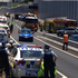 Emergency services at the scene of the crash. Photo / Greg Bowker
