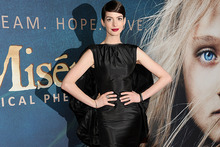 Anne Hathaway at the New York premiere of Les Miserables. Photo/AP