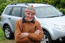 Bob Moorfield is most probably the oldest Subaru driver in New Zealand. Photo / Supplied
