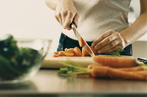 Knives can spread disease around the kitchen.Photo / Thinkstock