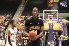 Brian Okam sets up his free throw miss. Photo / YouTube