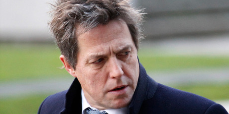 Hugh Grant has been blasted by comedian Jon Stewart. Photo/AP