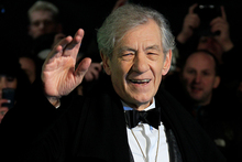 Ian McKellen at the London premiere of The Hobbit. Photo/AP