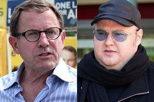 Act MP John Banks and Kim Dotcom. Photo / Jodi Rose/Supplied