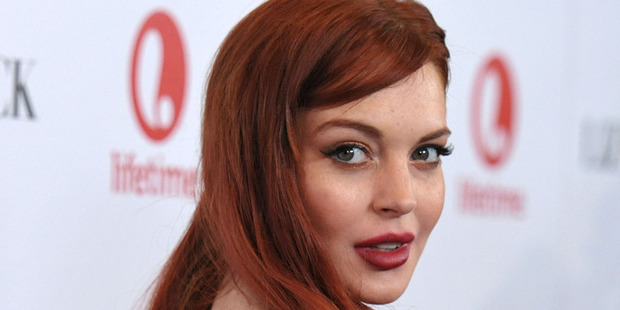 Lindsay Lohan at the premiere of Liz & Dick in Berverly Hills. Photo/AP