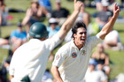 Mitchell Johnson ahs been dropped from the Australian test squad. Photo / Christine Cornege.