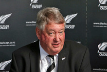 New Zealand Cricket Board Chairman Chris Moller speaks to media. Photo / Getty Images