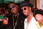 Notorious B.I.G and his friend and collaborator P Diddy. Photo/AP
