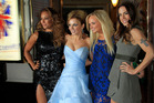 Mel B, Geri Halliwell, Emma Bunton and Mel C at the Viva Forever! premiere. Photo/AP