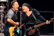Bruce Springsteen and Steve Van Zandt on stage in New York. Photo/AP