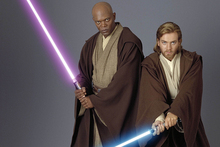 Samuel L. Jackson and Ewan MacGregor in Star Wars. Photo/supplied