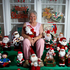 Iris Franks at her home in Glen Innes. The house is decorated in lights and other Christmas decorations, a tradition that she's been doing every Christmas for years. Photo / Sarah Ivey