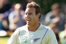 Doug Bracewell has enjoyed a rapid rise in the New Zealand game, despite patches of mediocrity. Photo / Getty Images