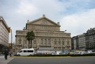 The Theatre Colon opera house has a commanding position on Avenue Ninth July. Photo / Paul Rush