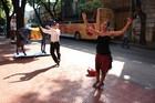 Colourful La Boca has lively street entertainment. Photo / Paul Rush