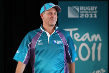 Prime Minister John Key modelling a Rugby New Zealand Uniform. Photo / NZPA