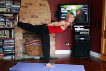 Thanks to Nike+Kinect Training, Rachel Grunwell has a hunky personal trainer at her disposal 24-7. Photo / Doug S