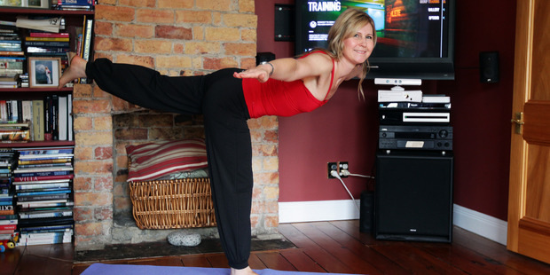 Thanks to Nike+Kinect Training, Rachel Grunwell has a hunky personal trainer at her disposal 24-7. Photo / Doug Sherring