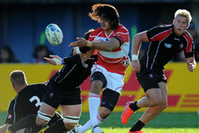 Coach Eddie Jones wants Japan to become more dependent on home-grown players such as Kosuke Endo. Photo / Getty Images