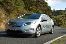 The Holden Volt takes six-to-10 hours to recharge at a cost of $2.50.  Photo / Jacqui Madelin 