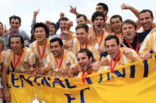 VICTORY: Central United celebrate their 2012 win. Photo / Getty Images