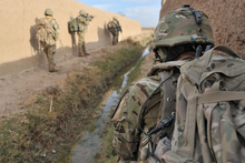 The UK is accelerating its troop exit plan after huge costs disclosed yesterday. Photo / AP