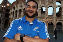 All Black Piri Weepu. Photo / Hannah Johnston