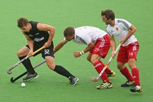 Nick Wilson (left) was the leading scorer at this month's Champions Trophy in Melbourne.  Photo / Getty Images