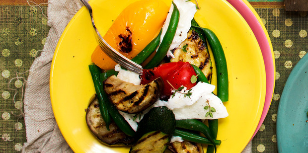 Grilled vegetables are always a taste sensation and they take no time at all to cook. Photo / Babiche Martens
