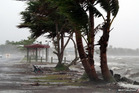 The full force of Tropical Cyclone Evan is felt in Suva yesterday. Photo / Minh Cao