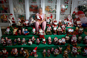 Every Christmas Iris Franks (pictured) and her husband Ray decorate their Glen Innes home. Photo / Sarah Ivey