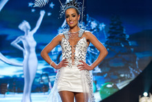 Talia Bennett's Miss Universe national costume has come under fire. Photo / Darren Decker 