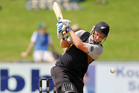 Colin Munro made a good first impression, scoring 39 off 27 balls in New Zealand's 140 for eight. Photo / Getty Images