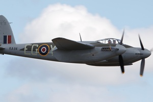 Hundreds came out to see the world's only flying De Havilland Mosquito. Photo / John Borren