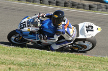 Series leader Dennis Charlett has successfully completed many laps of the infamous Cemetery Circuit but never on a superbike. Photo / Terry Stevenson