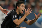 Manchester City player Samir Nasri could be out with injury for two weeks. Photo / AP