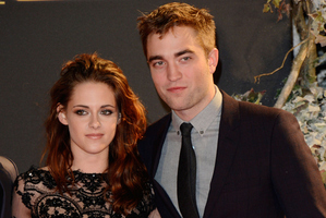 Kristen Stewart and Robert Pattinson. Photo / AP