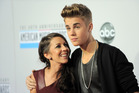 Justin Bieber and his mother, Pattie Mallette, at the American Music Awards in November. Photo / AP