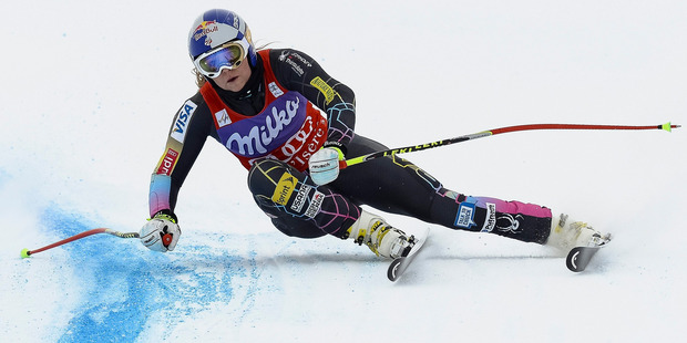 Lindsey Vonn of the US believes that some time off the mountain will help her regain her strength. Photo / AP