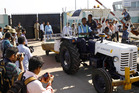 The casket containing the body of Jacintha Saldanha arrives in India for her funeral. Photo /AP