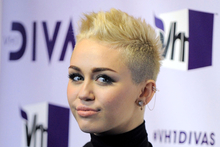 Miley Cyrus arrives at VH1 Divas.Photo / AP 