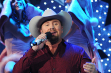 The winner of season two of X Factor USA, Tate Stevens, during his finale performance. Photo / Supplied