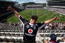 Warriors fans like Tiato Martin from Manukau may face travelling to Eden Park for big matches. Photo / Richard Robinson